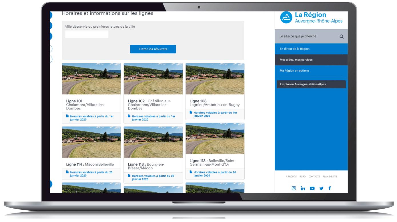 image de la page transport du site de la Région Auvergne-Rhône-Alpes