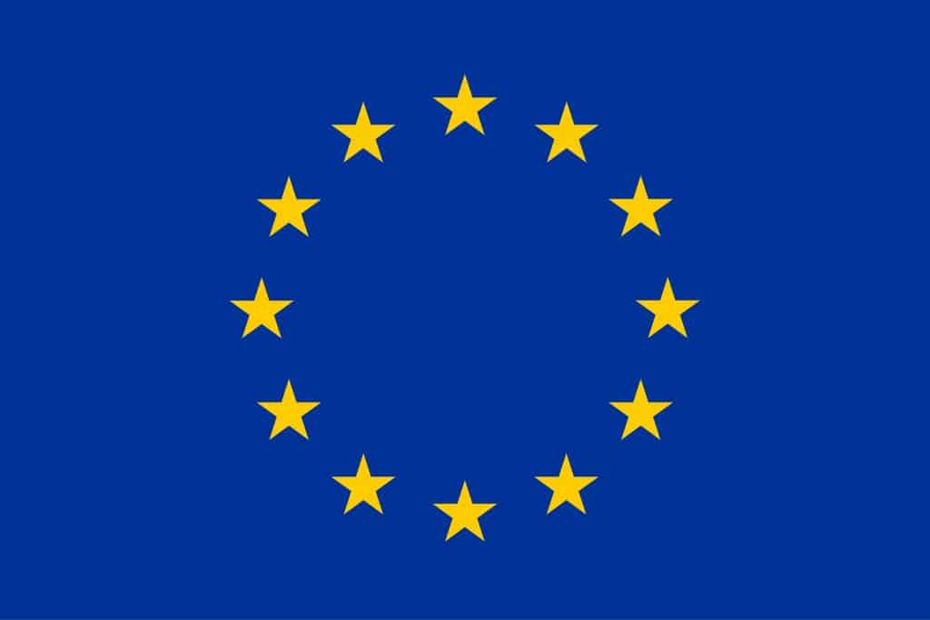 Europe Flag Yellow High