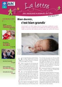 couverture de la lettre des assistants maternels n°49 décembre 2018