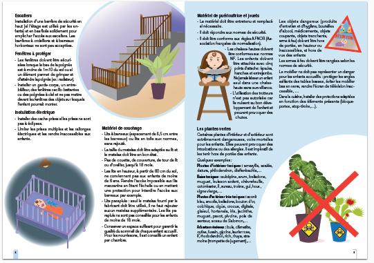 page interieur du livret sécurité des enfants chez l'assistant maternel