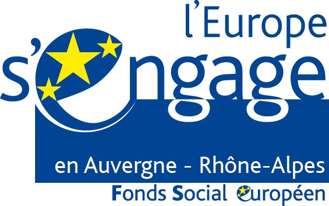 Logo l'Europe s'engage en Auvergne-Rhône-Alpes - Fonds Social européen