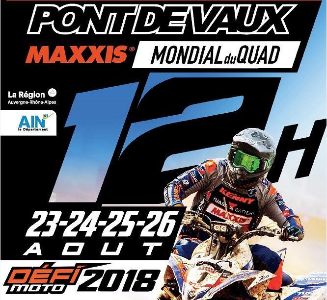 12h de Pont de Vaux Août 2018 - Mondial du Quad Maxxis, soutenu par le Département de l'Ain