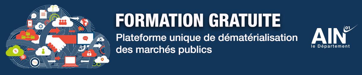 Formation gratuite plateforme dématérialisation marchés publics Ain, nuage numérique