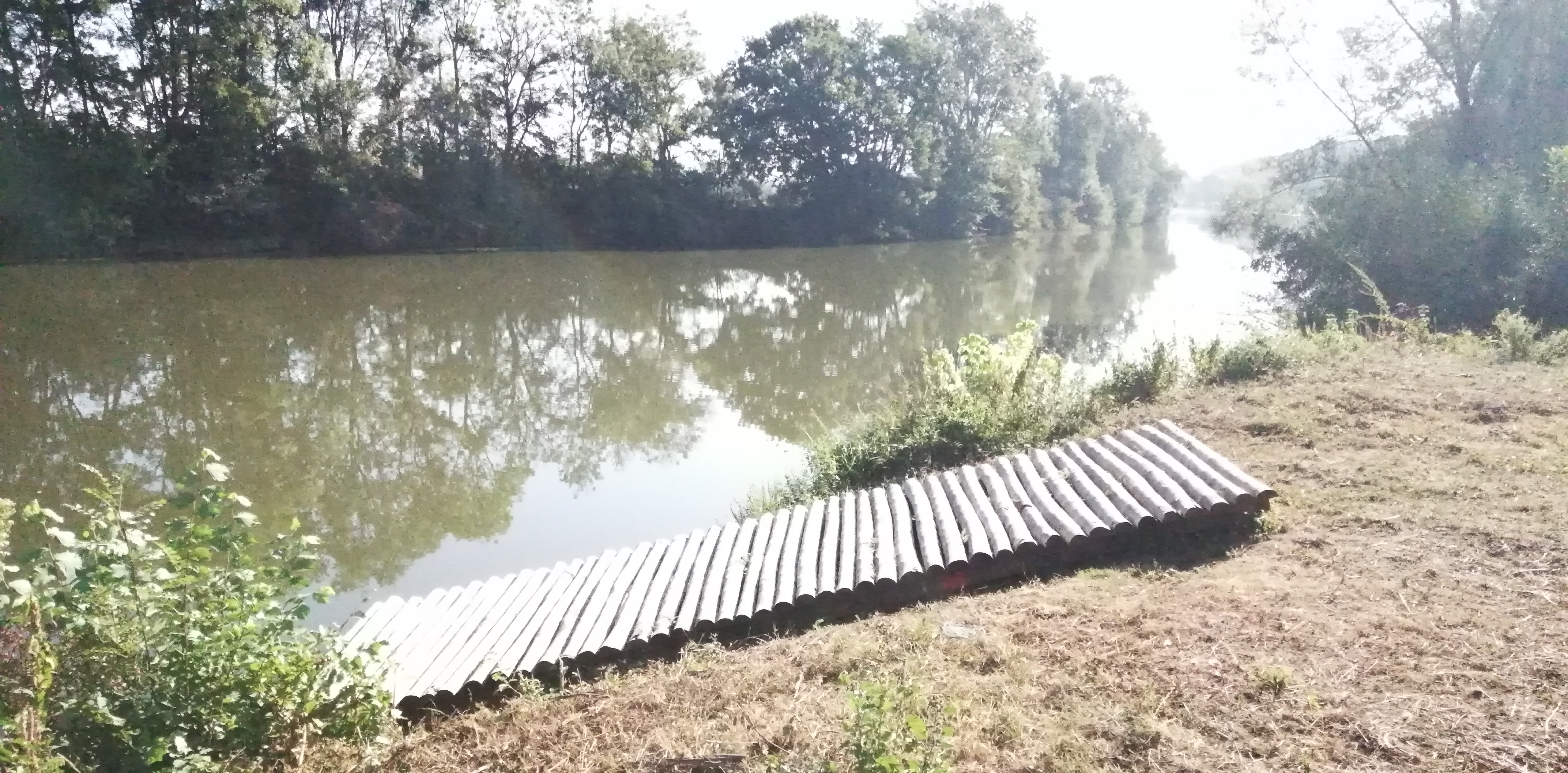 Dunes des charmes - Sermoyer - Rampe d'accès pour bateaux et canoës