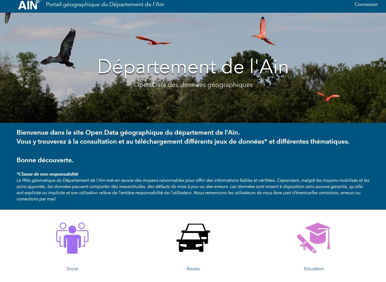 portail géographique du Département de l'Ain
