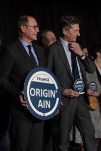 Le Président Jean Deguerry et Nicolas de Tavernost, président du directoire du groupe M6