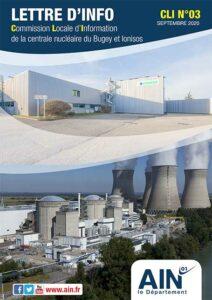 couverture de la lettre d'info de la commission locale d'information de la centrale nucléaire du Bugey