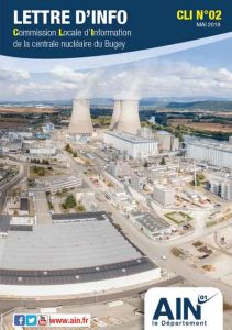 photo aerienne de la centrale nucléaire du Bugey