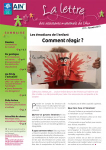 Couverture de la lettre des assistants maternels n°51-novembre-2019 Connaître, reconnaître les réactions émotionnelles de l'enfant pour trouver des solutions.