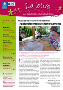 Couverture de la lettre des assistants familiaux n°52-juin 2020 - les conseils pour éveiller les jeunes enfants au language