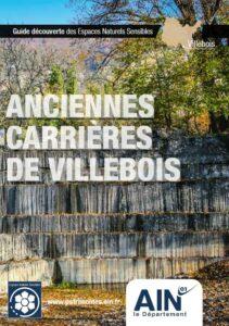 Couverture du Guide Découverte des Espaces Naturels Sensibles (ENS) des anciennes Carrières de Villebois