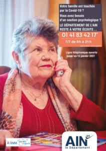 Mise en place d'une ligne téléphonique de soutien psychgologique CD01