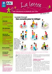 Couverture de la lettre des assistants maternels n°53 décembre-2020 Le projet d'accueil : un outil professionnel valorisant