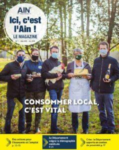 couverture du magazine représentant 5 personnes représentant les métiers de l'agriculture, élevage et métier de bouche