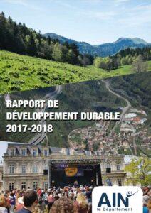couverture du Rapport de développement durable 2017-2018