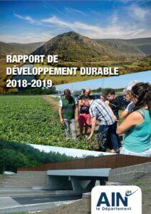 couverture du Rapport de développement durable 2018-2019