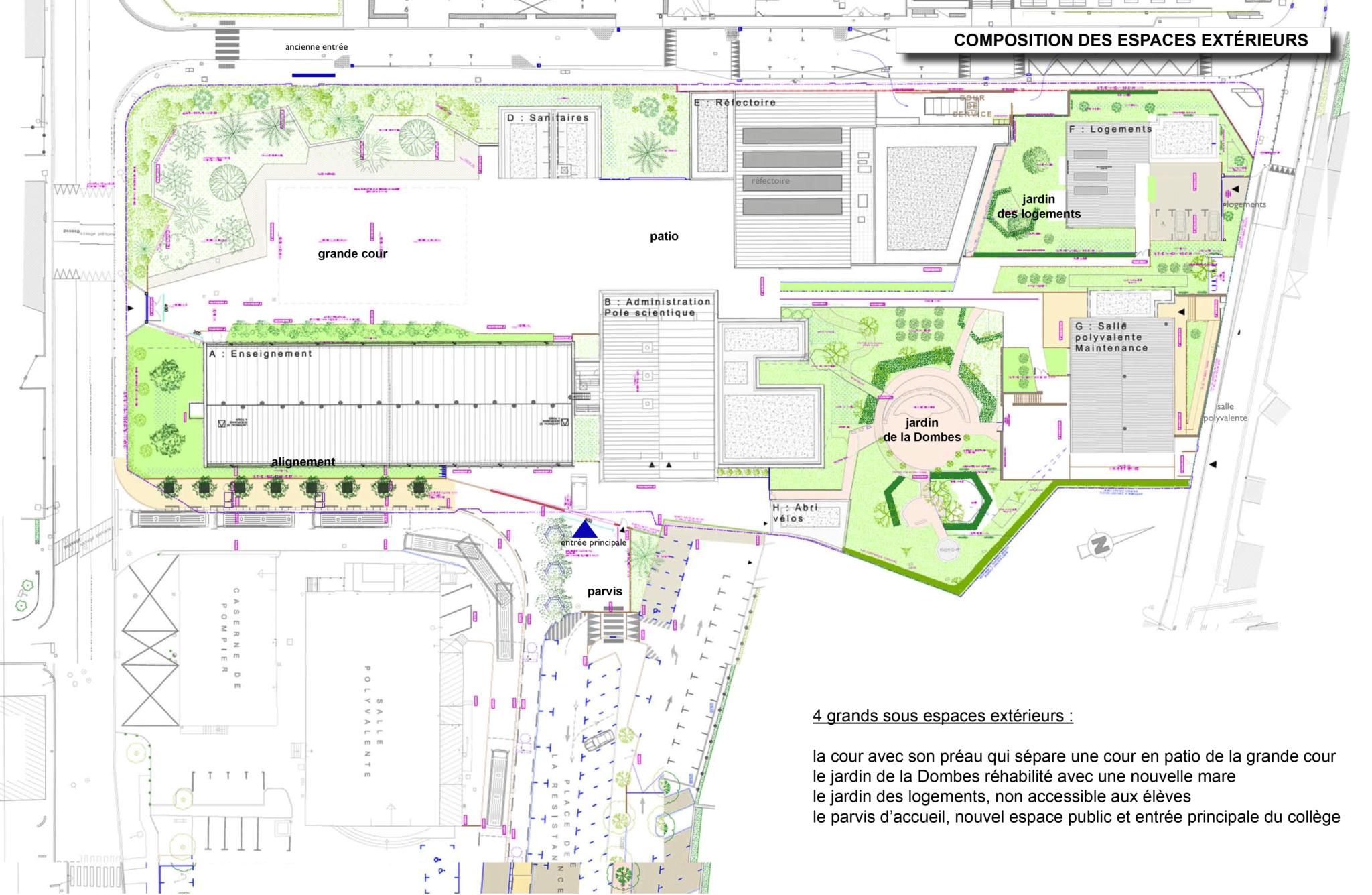 Plan du Collège Lèon Comas en 2025