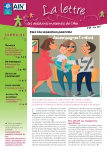Couverture de la lettre des assistants maternels n°54 juin 2021 Accompagner l'enfant en situation de rupture ou de conflit parental