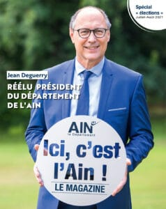 Une du magazine « Ici, c'est l'Ain, spécial élections 2021